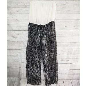 Feathers Strapless Jumpsuit
